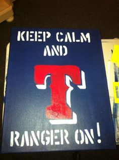 TEXAS RANGERS! TEXAS RANGERS! Let's do this @Michelle Mills!!!!