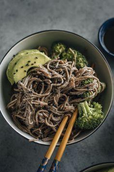 Tahini and Black Sesame Soba Noodles