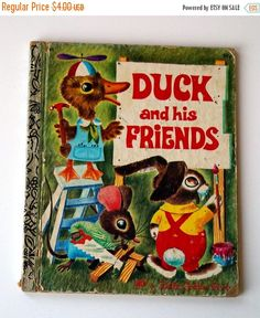 SALE Little Golden Book - Duck and his Friends - with Richard Scarry Illustrations - 1978 - 1970s Collectible Children's Book by ElpineVintageBooks on Etsy