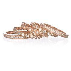 rose gold wedding bands / stack bands