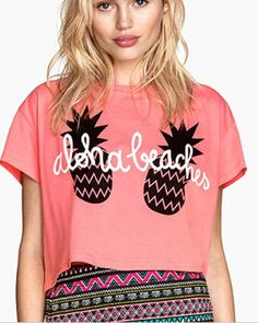 Pink pineapple t shirt for girls funny fruit short t shirt-
