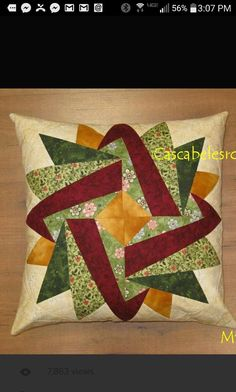 Patchwork und Applikation - Embroidery and Quilt Patterns - Handmade Missouri Star Quilt Pattern, Star Quilt Patterns, Paper Piecing Patterns, Pattern Blocks, Missouri Quilt, Patch Quilt, Quilt Blocks, Patchwork Cushion, Quilted Pillow