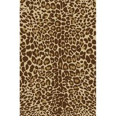 Infinity Home Kings Court Gold Leopard Animal Print Rug