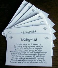 Wedding Gift List Message Funny : ... on Pinterest Wishing Well Wedding, Weddings and Wedding Gift Poem