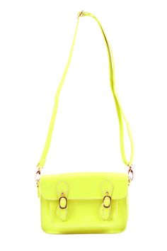 Neon Yellow Mini Crossbody purse