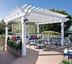 White Pergola By Pool Design, Pictures, Remodel, Decor and Ideas - page 6