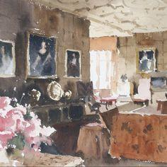 John Yardley (b. 1933) Portraits in an interior. John Yardley