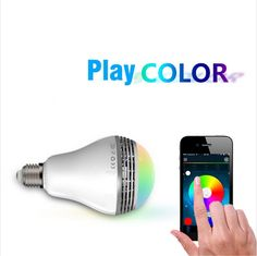 Popular High quality Wireless Bluetooth Smart LED Beats Audio Speaker Light Bulb Lamp V V