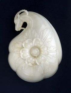 Wine cup of Mughal Emperor Shah - BaseJahan 1657 or (1067 in the Islamic Calendar). White Nephrite Jade.