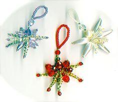 Christmas sparkler tutorial from Linda Jones - could be used to make  tree decorations, pendants, handbag charms, key rings, napkin rings...