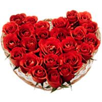 Red Roses in a bonny Heart Shape arrangement  to Bangalore, Karnataka Rs. 1004 / USD 16.73