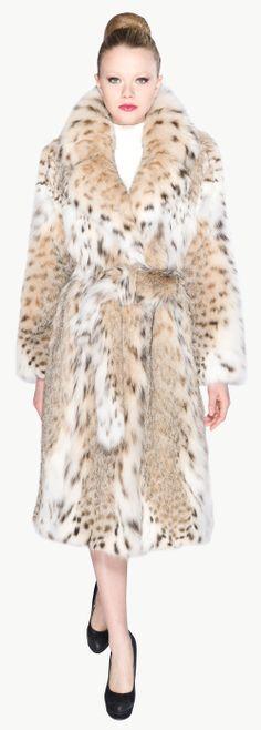 Manteau en lynx roux.  Collection Argiriou