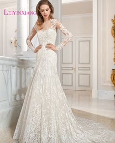 Modern Sexy Mermaid Style Sweetheart Luxury Full Appliques and Lace Bridal Gown Wedding Dresses Long Custom Size Bridal  Zipper