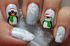 Im a sucker for peguin nail art...