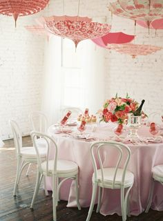 Bella Umbrella Rentals > http://rent.bellaumbrella.com/ | #umbrellas #wedding #pink
