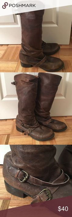 Zigi Soho leather boots Zigi Soho Chamber size 12 leather boots. In excellent condition. Worn about a dozen times. Inch and half heel and boot is 16 inches tall. Zigi Soho Shoes Ankle Boots & Booties