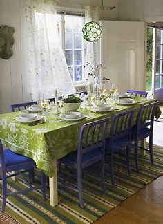 @ Beth Burden: How do you feel about painting your dining room chairs a fun color?