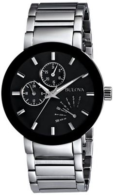 Bulova Men's Black Stainless Steel Watch