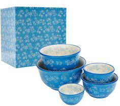 Temp-tations S/5 Holiday Concentric Bowls with Gift Box