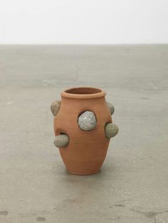 "Phanos Kyriacou Stone Ware,"" 2015, Terracotta and road stones, 11.81 x 6.3 x 6.3 inches"