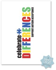 Celebrate Differences Autism Awareness T-shirt from Tried & True