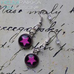 Pinkit tähtikorvikset