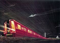 Glossy red mockup for Washington Metro rail cars (probably 1967-68). From Ghosts of DC