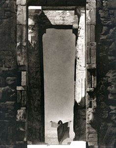 Isadora Duncan at the Portal of the Parthenon, Athens - by Edward Steichen (1920).