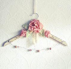 Shabby Chic Bridal Hanger.