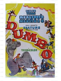 I love the Dumbo movie!!! c:The Dumbo Walt Disney Movie Poster Print Download Classic by nukes, $1.00