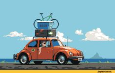 Retronator // Pixel Joint Top Pixel Art — January 2017 OK, fine,. Car Animation, Pixel Animation, Pixel Poster, Pixel Art Gif, Arte 8 Bits, Arte Hip Hop, Foto Gif, Pix Art, 8 Bit Art