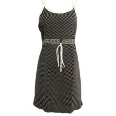 Naritva Elegant Black Dots Dress
