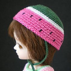 watermelon style hat for all Lati Yellow dolls