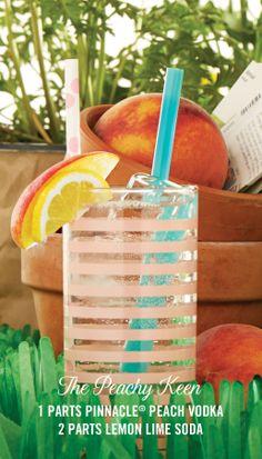 Pinnacle® Peachy Keen recipe...Spring in a glass!