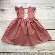 Beautiful handmade linen dress thepathelessraveled on etsy Baby Girl Fashion, Toddler Fashion, Kids Fashion, Toddler Dress, Baby Dress, Toddler Girl, Birthday Girl Dress, Birthday Dresses, Little Girl Dresses