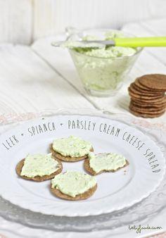 Leeks + Spinach + Parsley Cream Cheese Spread — Baby FoodE | Adventurous Recipes…