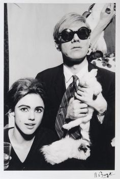 Our Pittsburgh muse, Andy Warhol with his muse, Edie Sedgwick. And a rabbit.