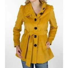 Steve Madden Jackets & Coats - One Of A Kind!!  Yellow Mustard Peacoat