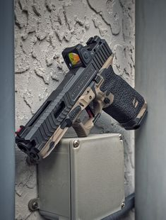 Fully built custom Glock 17 from Battle Ready Arms. Features the Signature Stippling Package & the Guardian 17 slide. Glock Guns, Weapons Guns, Airsoft Guns, Guns And Ammo, Tactical Pistol, Tactical Wall, Custom Guns, Glock 17 Custom, Military Guns