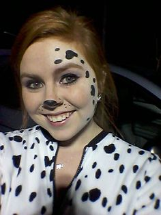 Halloween Dalmatian costume face paint