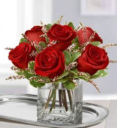 roses in cube vase - Google Search