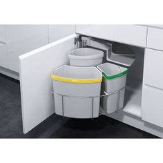Oeko 3 Piece Pull Out Trash Can