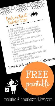 Trick or Treat Safety Tips | Create Craft Love