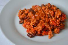 Palavras que enchem a barriga: Chili, a refeição perfeita para um dia mau.