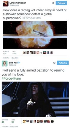 #Force4Ham I don't know wether this Gould under Star Wars or Hamilton