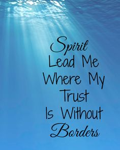 Spirit Lead Me Where My Trust is Without Borders by AmongLions