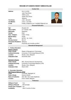 Best Resume Template Malaysia Resumecurriculum Vitae Template Msn Scholarship In Sample Resume Account Executive Malaysia Besslers U Pull And Save Cv Resume Sample, Resume Pdf, Sample Resume Templates, Basic Resume, Best Resume Template, Free Resume, Teacher Resume Template, Nursing Resume, Cv Template