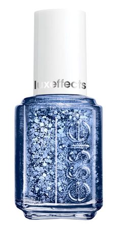 Meet Essie's newest addition to the Luxeffects line: Stroke of Brilliance The beachy ocean-blue color adds a shimmery update to a matte manicure. Simply layer it over any shade (try coating just your ring finger), on tips of your nails in a funky French-manicure style, or sport it solo.  Snag it here.