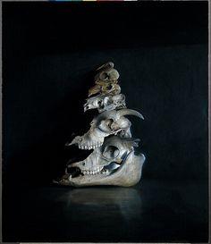 Agostino Arrivabene #skulls #oil painting
