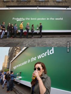 A poster that pours in for free beer away